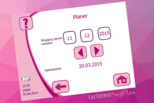 planowanie dziecka, Co to jest Cyclotest myWay /tryb Planowanie dziecka/, Cyclotest Polska - Komputery Cyklu Nowej Generacji - Antykoncepcja Bez Hormonów - Planowanie dziecka