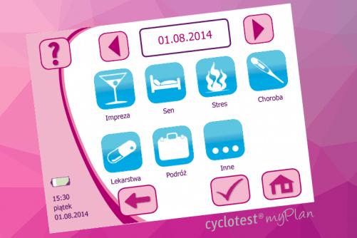 , Jakie informacje znajdziesz w swoim komputerze cyklu, Cyclotest Polska - Komputery Cyklu Nowej Generacji - Antykoncepcja Bez Hormonów - Planowanie dziecka
