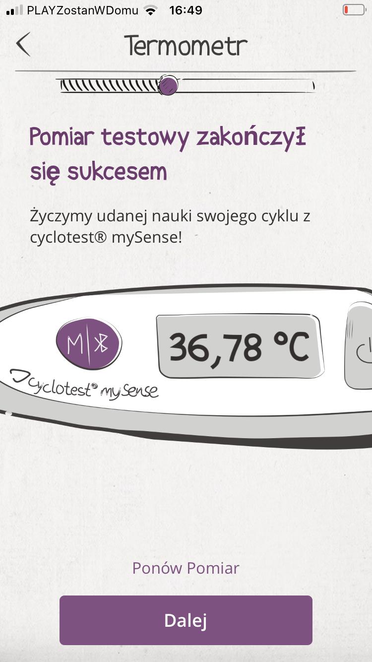 termometr cyclotest mySense, Pierwsze kroki z cyclotest mySense, Cyclotest Polska - Komputery Cyklu Nowej Generacji - Antykoncepcja Bez Hormonów - Planowanie dziecka